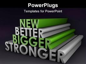 Bigger Better and Faster Product as a Concept powerpoint design layout
