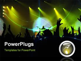 PowerPoint template displaying big party in the club. it's weekend