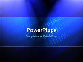 PowerPoint template displaying bits and bytes on a blue background