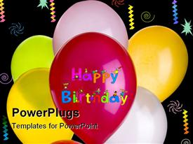 Eight balloons powerpoint design layout