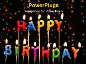 Happy birthday candles template for powerpoint
