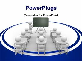 PowerPoint template displaying meeting concept in the background.