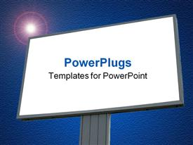 Blank billboard over blue cloudy sky, just add your text powerpoint template