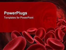 Red Blood Cells- medical concept. 3D image powerpoint template