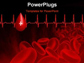 PowerPoint template displaying streaming blood cells in color