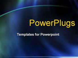 PowerPoint template displaying abstract blue