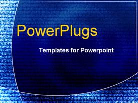 PowerPoint template displaying abstract swirls
