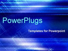 PowerPoint template displaying abstracted with patches of light in the background.