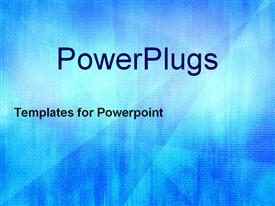 PowerPoint template displaying a bluish technological background with place for text