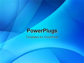 PowerPoint template displaying a bluish background with a number of lines and curves