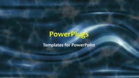 PowerPoint template displaying a short video showing an abstract of some blue wavy lines - widescreen format