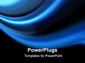 PowerPoint template displaying a plain blue colored tile with thick lines and black background