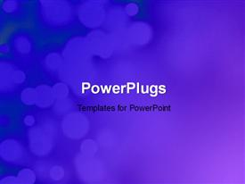 PowerPoint template displaying blue festive background with nice bokeh effect