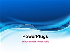 PowerPoint template displaying abstract blue business background for design in the background.
