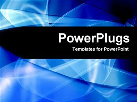 Blue abstract rays template for powerpoint
