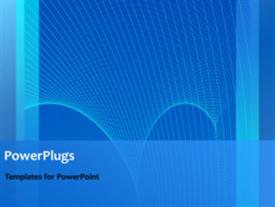 PowerPoint template displaying a short video of an abstract blue  colored  background