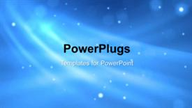 PowerPoint template displaying a short video showing an abstract of a blue background - widescreen format