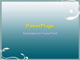 PowerPoint template displaying a floral representation and a bluish background
