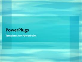 PowerPoint template displaying a short video showing an abstract of blue waves