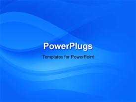 PowerPoint template displaying blue_Waves_0413