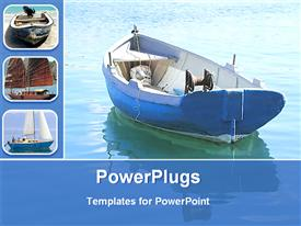 PowerPoint template displaying verity of boats