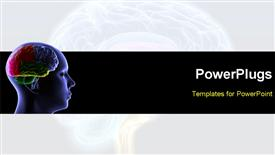 PowerPoint template displaying brain