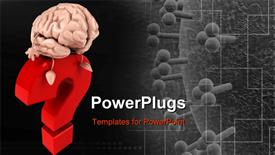 PowerPoint template displaying brain Concept