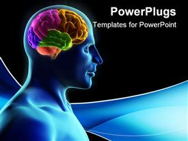 Human body and brain x-ray look powerpoint design layout
