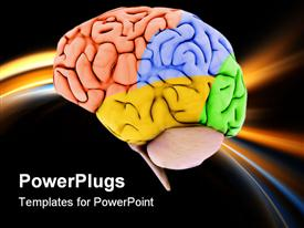 PowerPoint template displaying mind Power