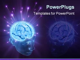 PowerPoint template displaying balls of energy jump out the brain