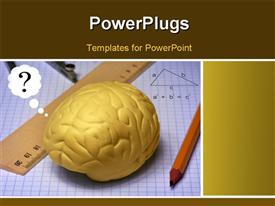 PowerPoint template displaying study of brain