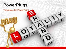 Brand and customer loyalty crossword powerpoint theme