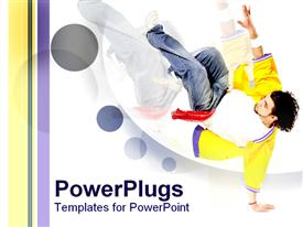 PowerPoint template displaying breakdance807