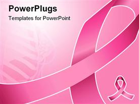 PowerPoint template displaying pink ribbon