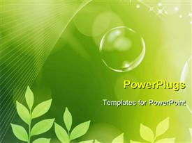PowerPoint template displaying green earth concept