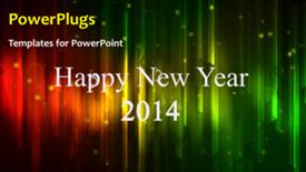 PowerPoint template displaying abstract New Year Background