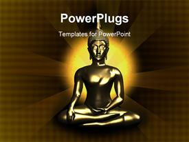 PowerPoint template displaying buddha sitting