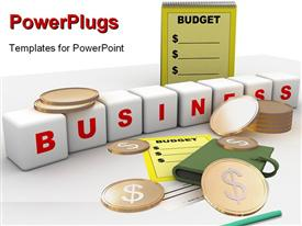 Computer rendered image of budget and business powerpoint template