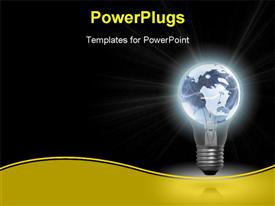 Bulb powerpoint design layout