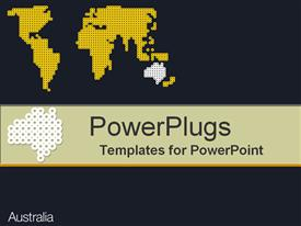 PowerPoint template displaying australia