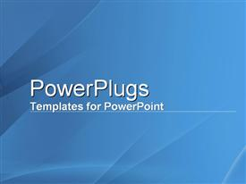 PowerPoint template displaying blue Reflections in the background.