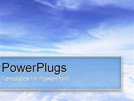 PowerPoint template displaying blue sky