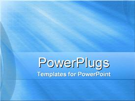 PowerPoint template displaying a plain blue and white colored display tile with bright light