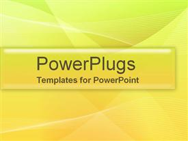 PowerPoint template displaying a green and yellow background with a strip in the middle