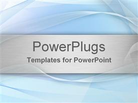 PowerPoint template displaying light blue abstract