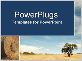 PowerPoint template displaying bus814