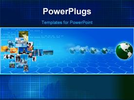 PowerPoint template displaying business