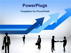 PowerPoint template displaying a beautiful depiction of professionalism with bluish background