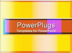 PowerPoint template displaying lots of tiny squares forming yellow and peach colored shades