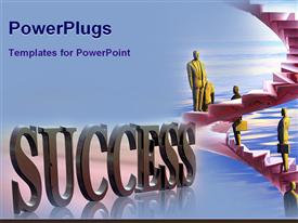 Concept steps of success powerpoint theme